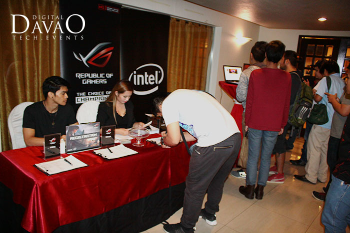 registration at the asus rog roadshow 2016