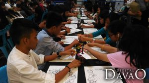 Students from different schools of davao participate in the Art for love for art event in gaisano mall