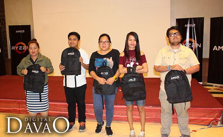 AMD Ryzen Event AMD backpack winners