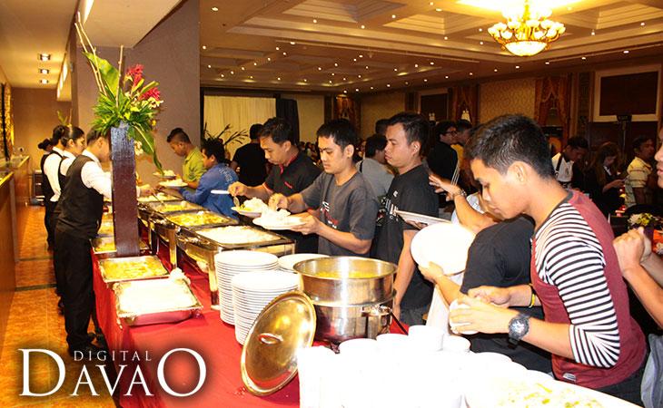 AMD Ryzen Event feasting on good food