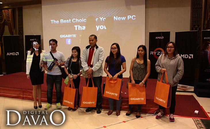 AMD Ryzen Event winners of Gigabyte gift bags