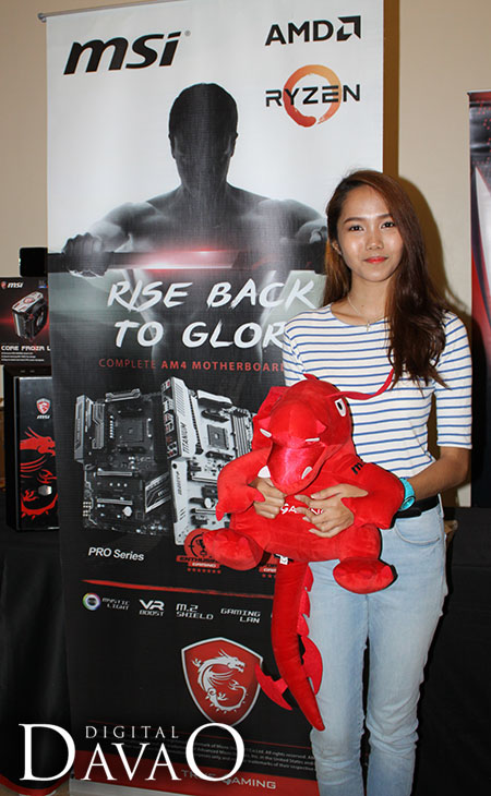 Gamer Girl Mai of Black Lambs with MSI Dragon at the AMD Ryzen Event