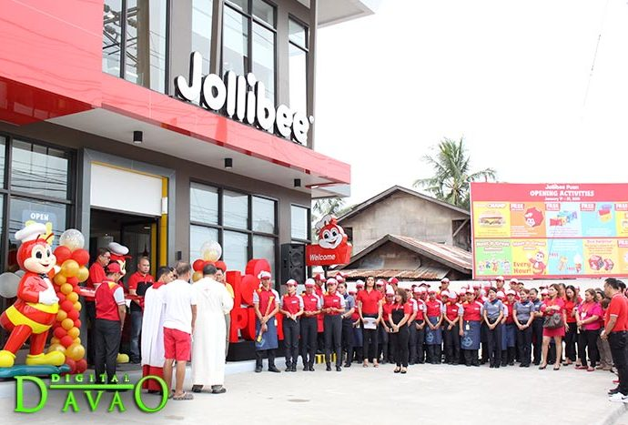 Blessing and Ribbon Cutting of Jollibee Puan